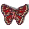 Motif Beaded with brooch Pin Butterfly Burgundy